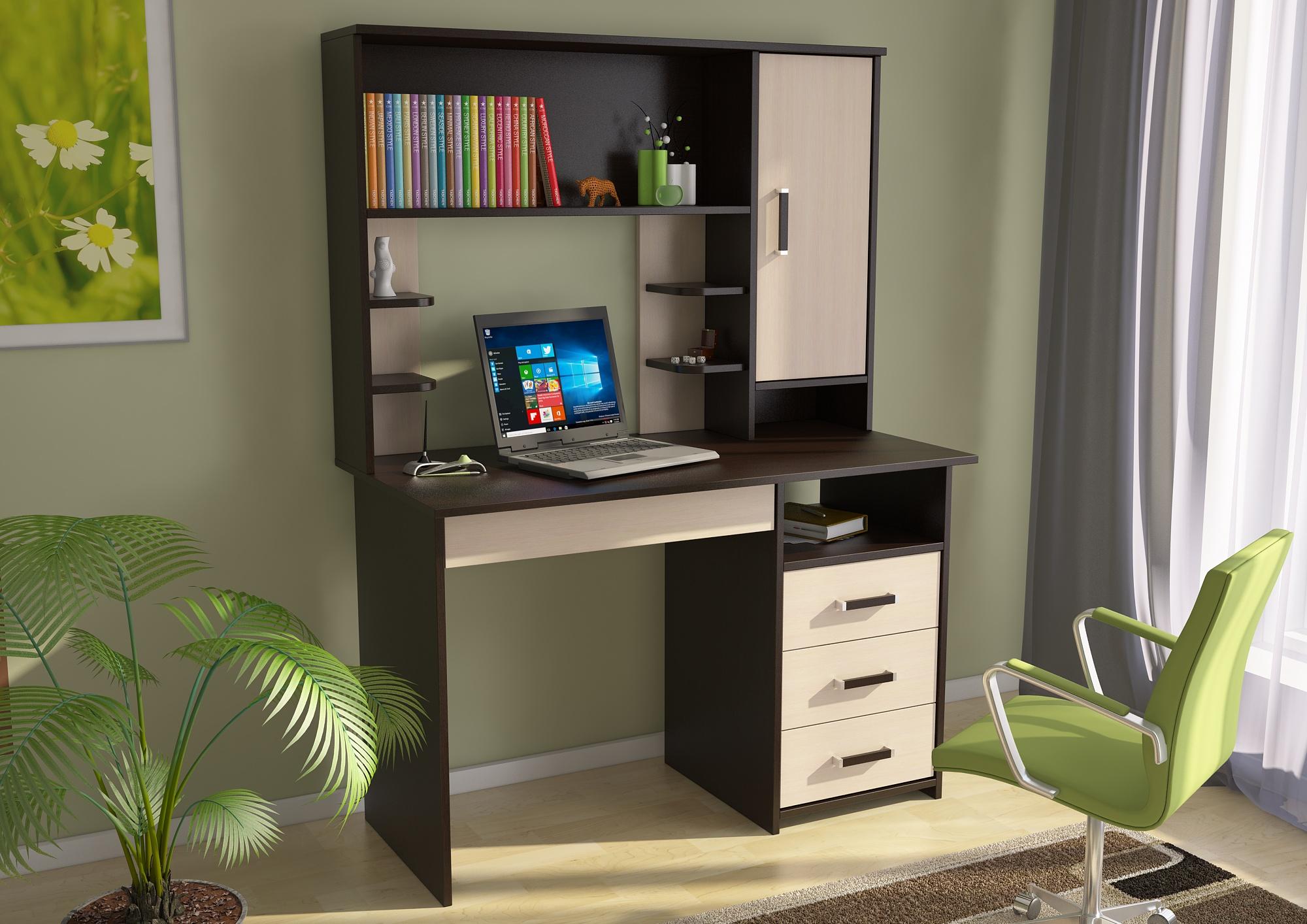 Стол письменный сп3 с надстройкой ксп-6 - мебельная торговая.