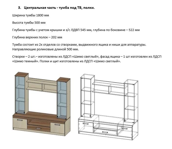 инструкция по сборке стенки паола 1 - фото 3